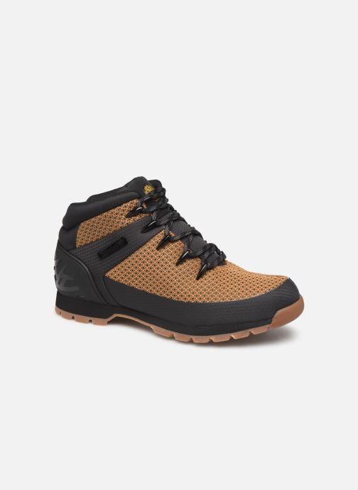 Boots en enkellaarsjes Timberland Euro Sprint Fabric WP Bruin detail