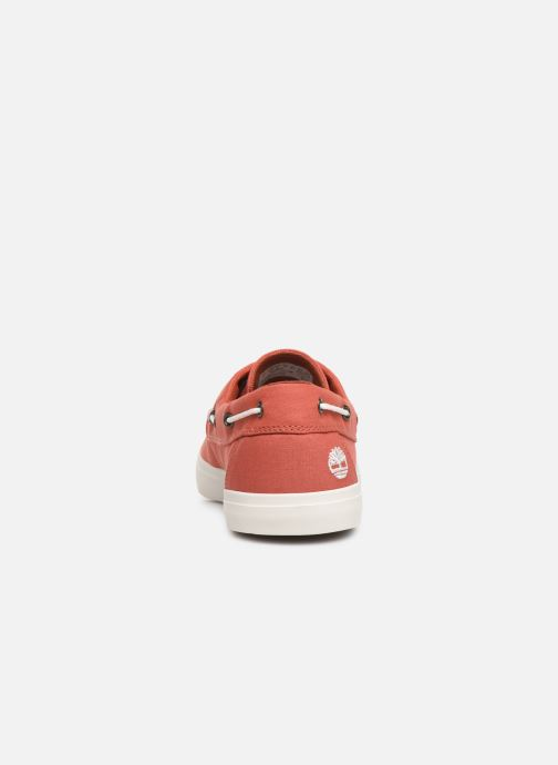 Zapatos con cordones Timberland Union Wharf 2 Eye boat Ox Naranja vista lateral derecha