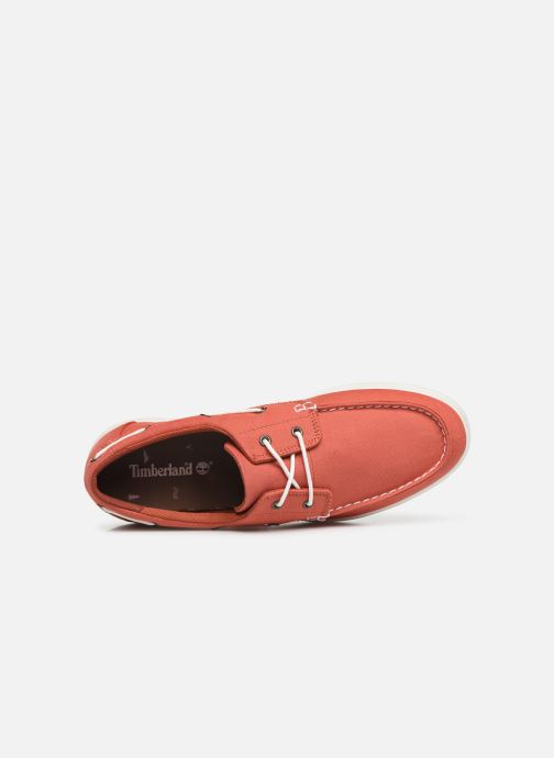 Chaussures à lacets Timberland Union Wharf 2 Eye boat Ox Orange vue gauche