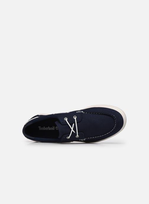 Chaussures à lacets Timberland Union Wharf 2 Eye boat Ox Bleu vue gauche