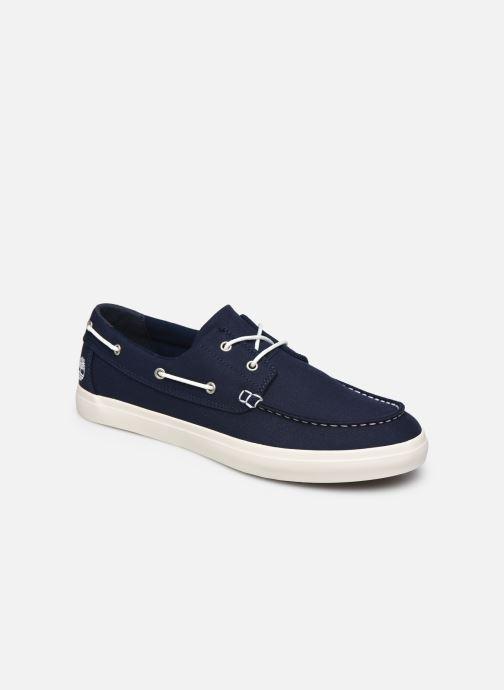 Chaussures à lacets Timberland Union Wharf 2 Eye boat Ox Bleu vue détail/paire