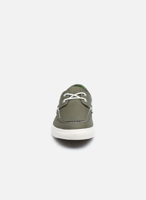 Chaussures à lacets Timberland Union Wharf 2 Eye boat Ox Vert vue portées chaussures