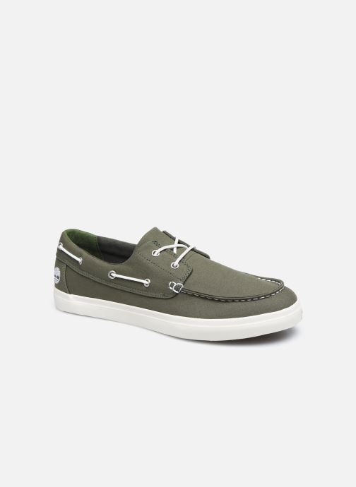 Chaussures à lacets Timberland Union Wharf 2 Eye boat Ox Vert vue détail/paire