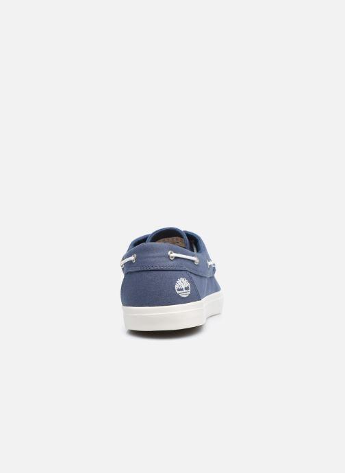 Zapatos con cordones Timberland Union Wharf 2 Eye boat Ox Azul vista lateral derecha