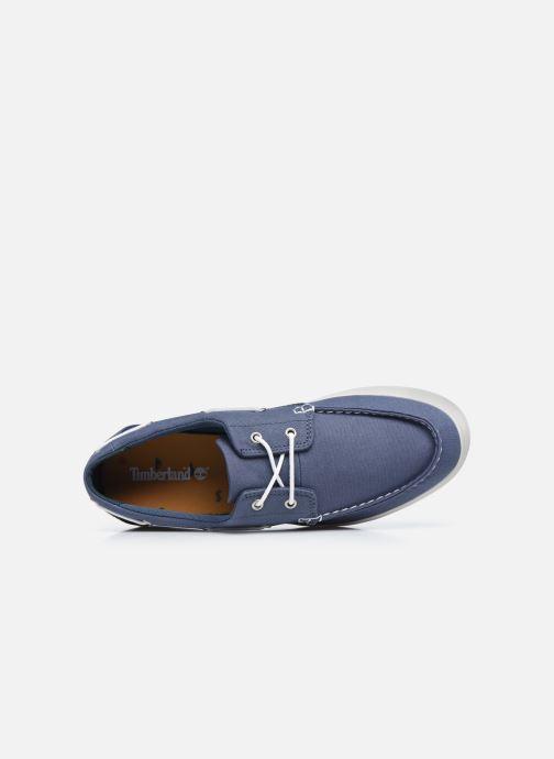 Zapatos con cordones Timberland Union Wharf 2 Eye boat Ox Azul vista lateral izquierda