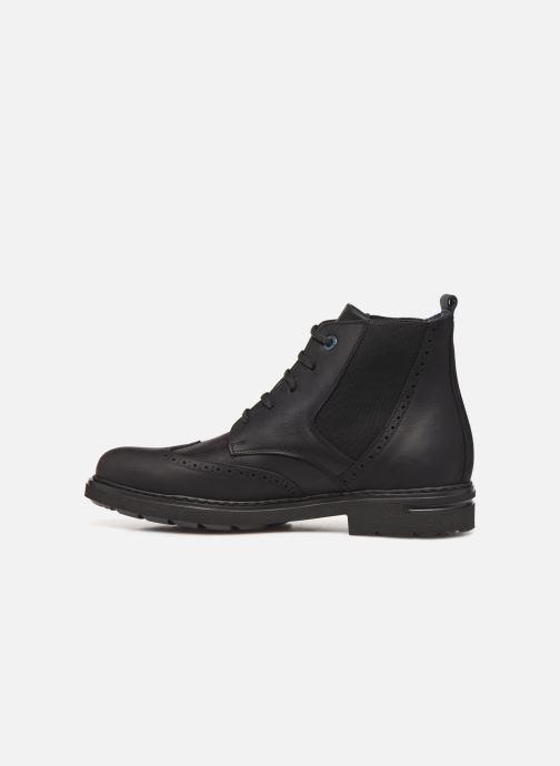Boots en enkellaarsjes Callaghan Pure Casual lace up boot Zwart voorkant