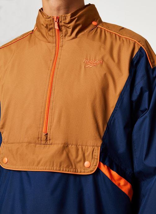 Vêtements Reebok Cl F Trail Jacket Bleu vue face
