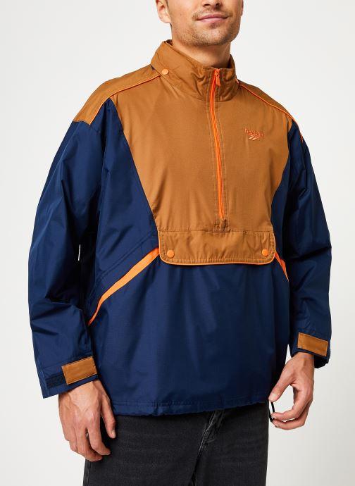 Vêtements Reebok Cl F Trail Jacket Bleu vue droite