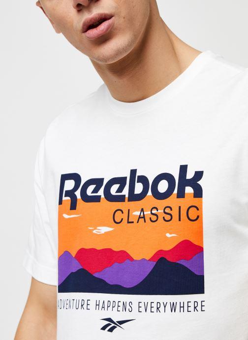 Vêtements Reebok Cl F Trail Graphic Tee Blanc vue face