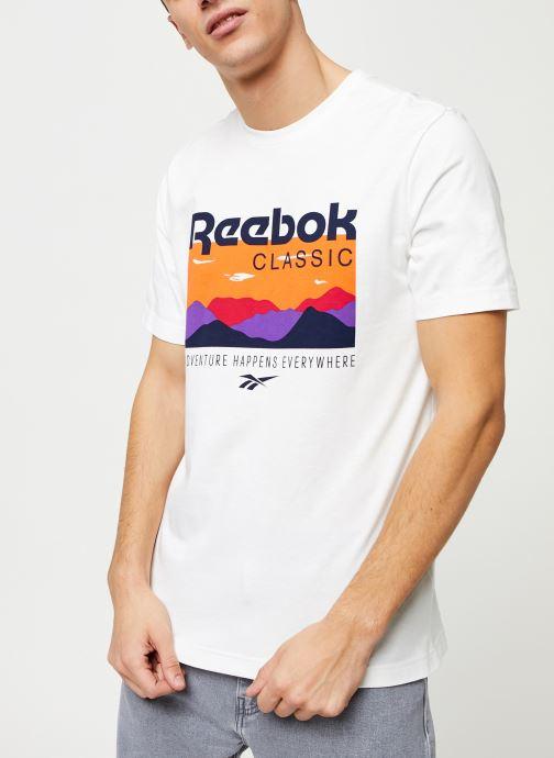 Vêtements Reebok Cl F Trail Graphic Tee Blanc vue droite