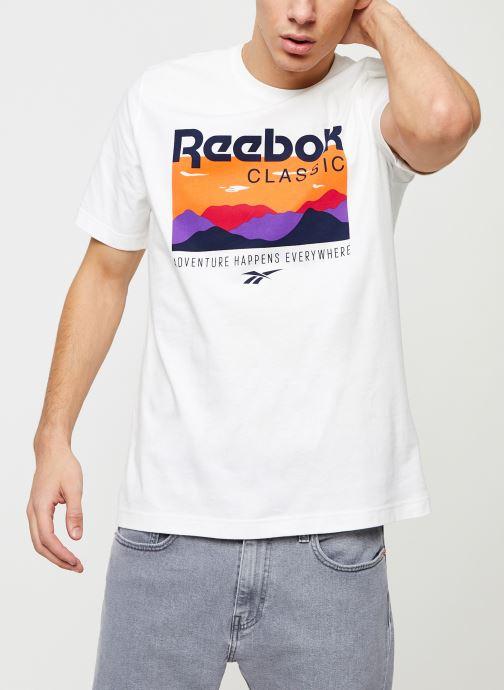 Vêtements Reebok Cl F Trail Graphic Tee Blanc vue détail/paire