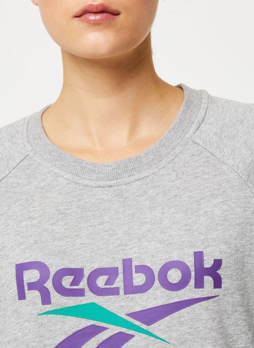 Vêtements Reebok Cl V Unisex Crew W Gris vue face
