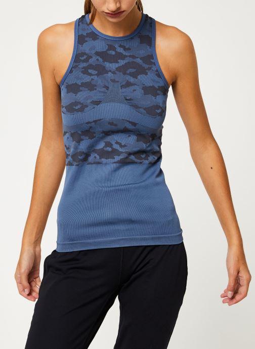Vêtements adidas by Stella McCartney Tank Bleu vue détail/paire