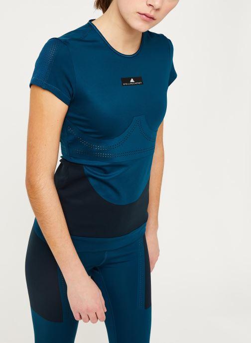 Vêtements adidas by Stella McCartney Tee Bleu vue détail/paire