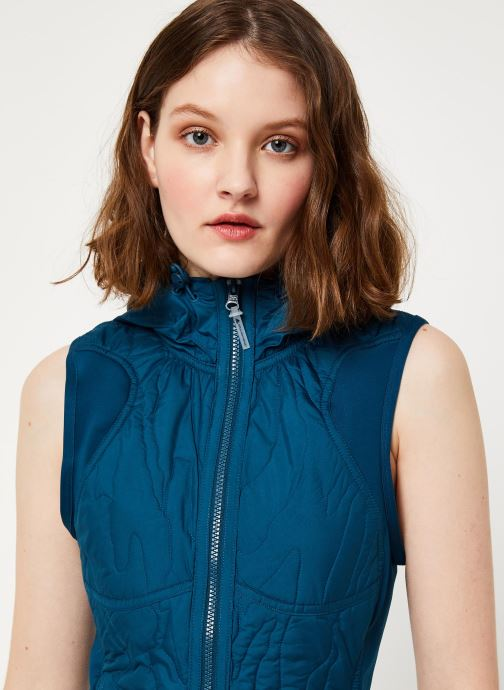 Vêtements adidas by Stella McCartney Run Gilet Bleu vue face
