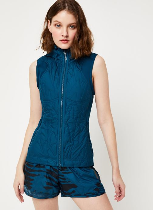 Vêtements adidas by Stella McCartney Run Gilet Bleu vue droite