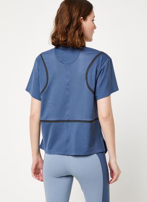 Vêtements adidas by Stella McCartney Run Loose Tee Bleu vue portées chaussures
