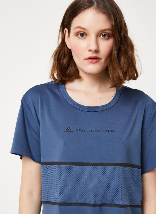 Vêtements adidas by Stella McCartney Run Loose Tee Bleu vue face