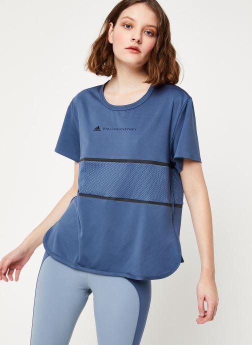 Vêtements adidas by Stella McCartney Run Loose Tee Bleu vue droite