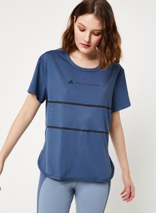 Vêtements adidas by Stella McCartney Run Loose Tee Bleu vue détail/paire