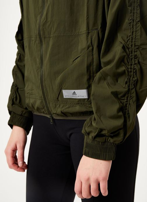 Vêtements adidas by Stella McCartney Run Light Jkt Vert vue face