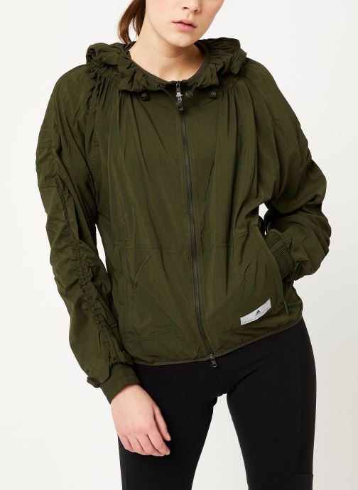 Vêtements adidas by Stella McCartney Run Light Jkt Vert vue droite