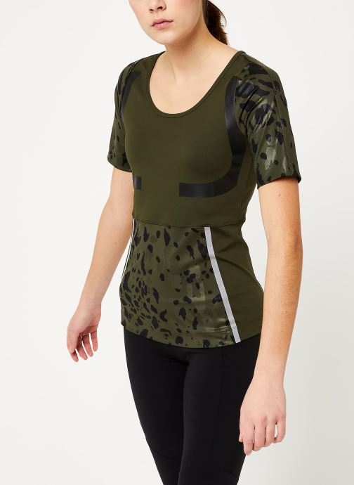 Vêtements adidas by Stella McCartney Run Tee Vert vue droite