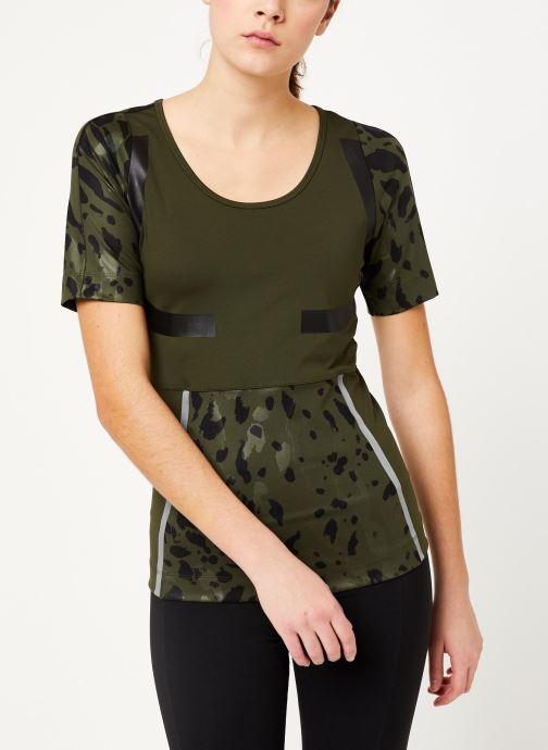 Vêtements adidas by Stella McCartney Run Tee Vert vue détail/paire