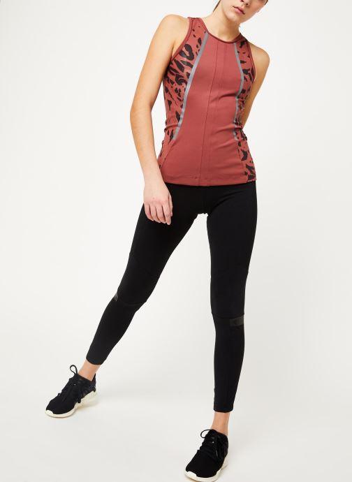 Vêtements adidas by Stella McCartney Run Tank Rouge vue bas / vue portée sac
