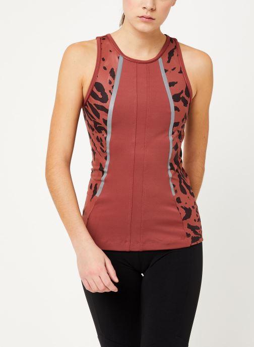 Vêtements adidas by Stella McCartney Run Tank Rouge vue détail/paire