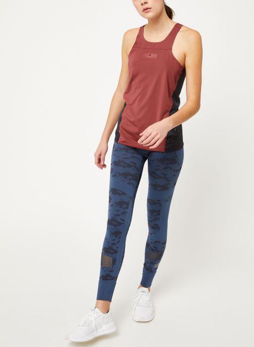 Vêtements adidas by Stella McCartney Run Loose Tank Rouge vue bas / vue portée sac