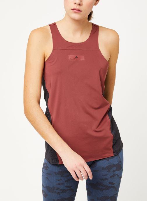Vêtements adidas by Stella McCartney Run Loose Tank Rouge vue droite