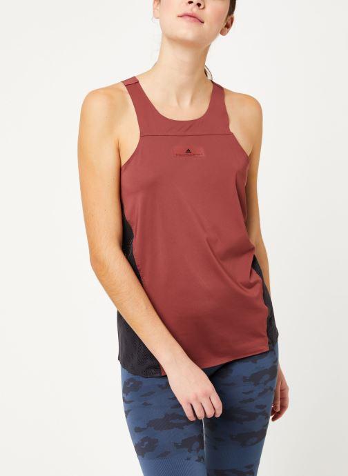Vêtements adidas by Stella McCartney Run Loose Tank Rouge vue détail/paire