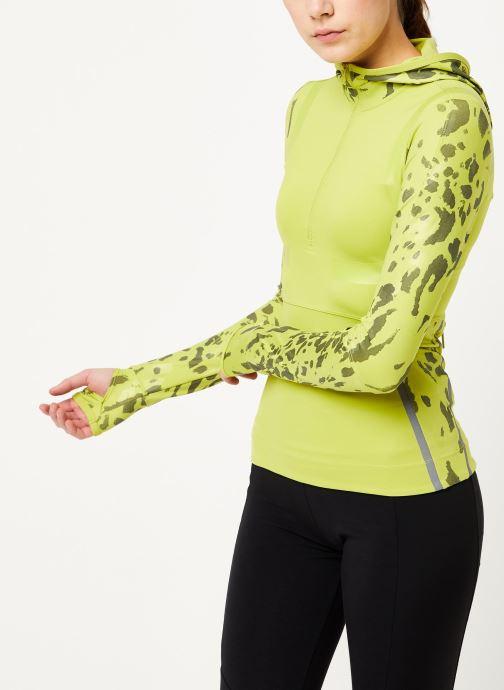 Vêtements adidas by Stella McCartney Run Longsleeve Vert vue détail/paire