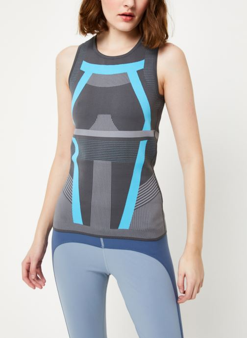 Vêtements adidas by Stella McCartney Run Pk Tank Gris vue droite