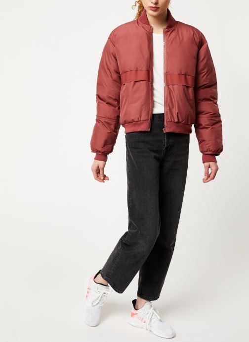 Vêtements adidas by Stella McCartney Padded Bomber Rouge vue bas / vue portée sac