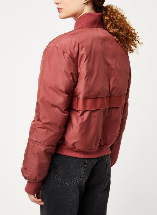 Vêtements adidas by Stella McCartney Padded Bomber Rouge vue portées chaussures