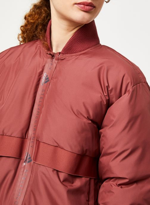 Vêtements adidas by Stella McCartney Padded Bomber Rouge vue face