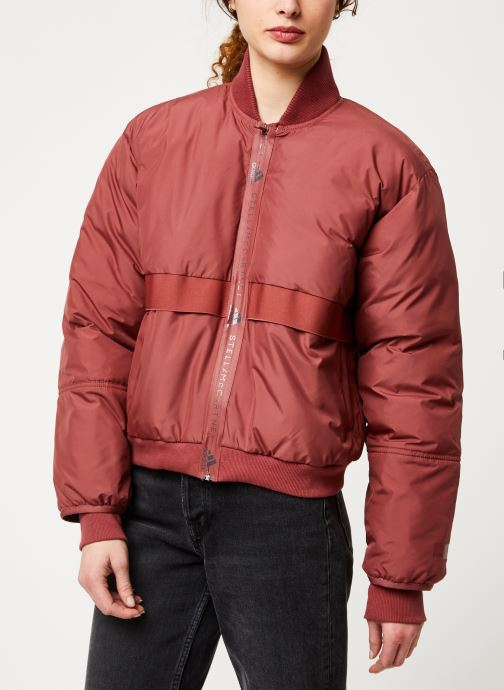 Vêtements adidas by Stella McCartney Padded Bomber Rouge vue droite