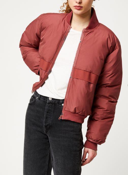 Vêtements adidas by Stella McCartney Padded Bomber Rouge vue détail/paire