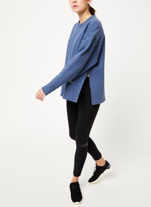Vêtements adidas by Stella McCartney Sweatshirt Bleu vue bas / vue portée sac