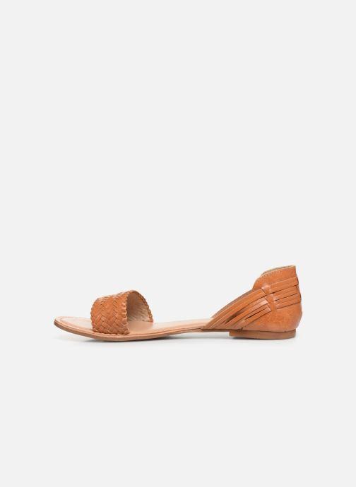 Sandales et nu-pieds I Love Shoes KERINETTE LEATHER Marron vue face