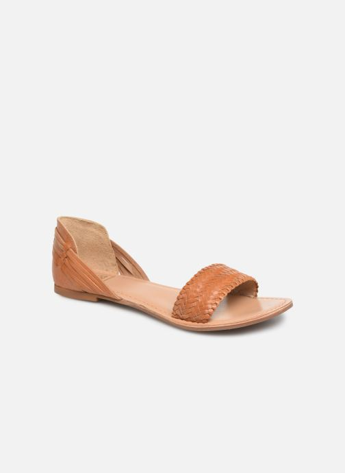 Sandals I Love Shoes KERINETTE LEATHER Brown detailed view/ Pair view
