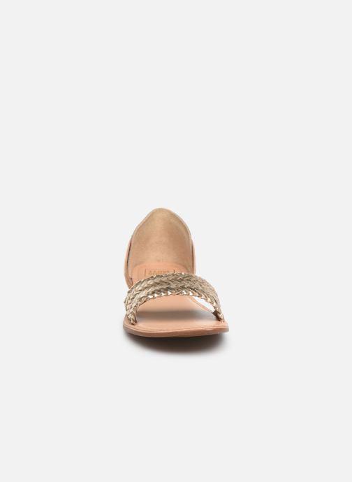 Sandali e scarpe aperte I Love Shoes KERINETTE LEATHER Oro e bronzo modello indossato