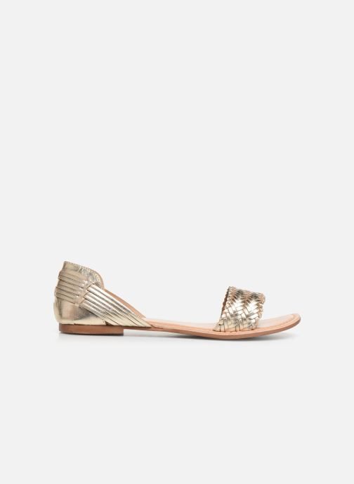 Sandals I Love Shoes KERINETTE LEATHER Bronze and Gold back view