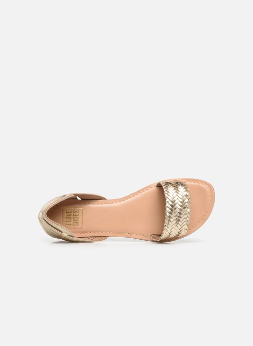 Sandali e scarpe aperte I Love Shoes KERINETTE LEATHER Oro e bronzo immagine sinistra