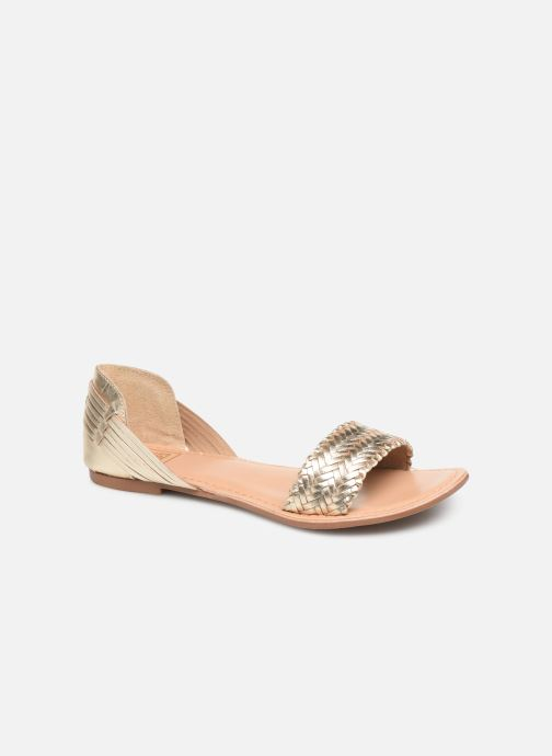 Sandals I Love Shoes KERINETTE LEATHER Bronze and Gold detailed view/ Pair view