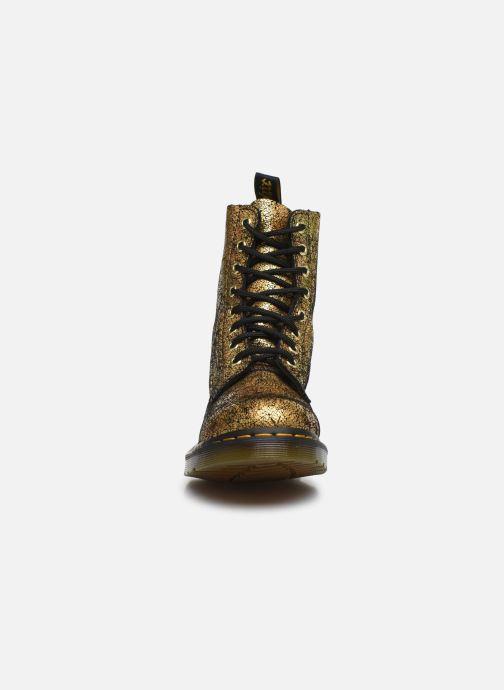 Bottines et boots Dr. Martens 1460 Iridescent Or et bronze vue portées chaussures