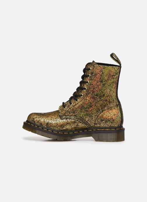 Bottines et boots Dr. Martens 1460 Iridescent Or et bronze vue face