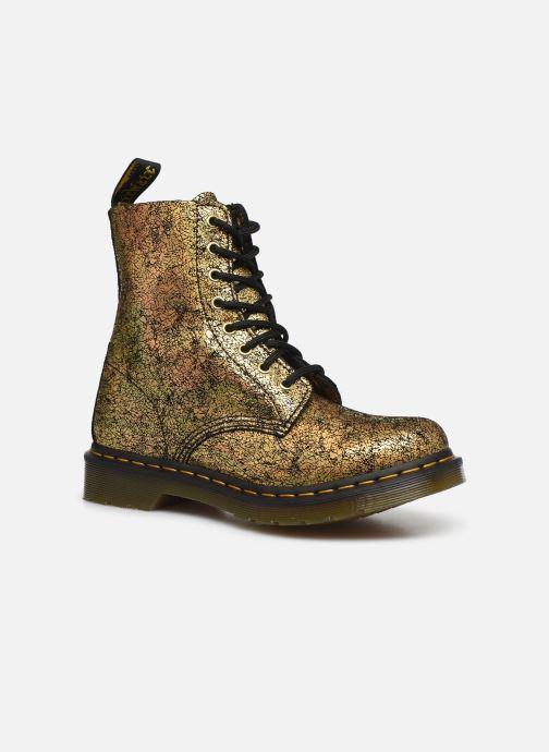 Bottines et boots Dr. Martens 1460 Iridescent Or et bronze vue détail/paire